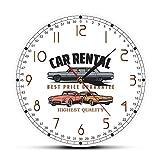 Relojes de pared Alquiler de coches Logotipo de la empresa Reloj de pared Alquiler de coches Decoración de oficina Arte de la pared Garaje Reloj de pared Mecánico personalizado Conductores regalo