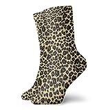 Drempad Luxury Calcetines de Deporte Animal Leopard Print Design Adult Short Socks Cotton Cozy Socks for Mens Womens Yoga Hiking Cycling Running Soccer Sports