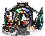"""Christmas Concepts® LED Illumina la Scena del Villaggio di Natale - 8""""/ 20cm (Negozio di Birra alla Spina)"""