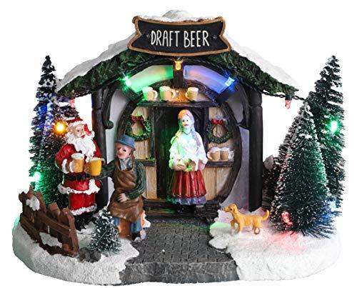 Christmas Concepts® LED Ilumina la Escena de la Aldea navideña - 8' / 20cm (Tienda de Cerveza de Barril)