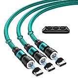 Câble de charge magnétique USB C JEEREE 3A - 3 câbles magnétiques USB - 0,5 m + 1 m + 2 m -...