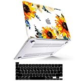 MacBook Pro 13 inch Case 2020 - 2016 (Model: A2338 M1 A2289 A2251 A2159 ), MacBook Pro 2020 Case Smooth Plastic Hard Shell Compatible with Mac Pro 13 with Touch ID + Keyboard Cover, Art Flower