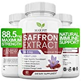 Saffron Supplement with 88.50mg Pure Saffron Extract for Weight Loss-Natural Appetite Control & Suppression Pills. 60 Saffron Capsules. Anxiety Relief. Saffron Supplement for Macular Degeneration