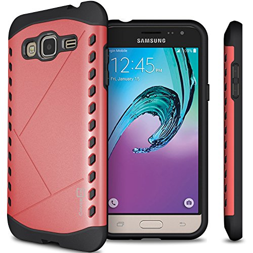 Galaxy Express Prime Case, Galaxy Amp Prime Case, CoverON [Paladin Series] Slim Fit Hard Protective Modern Style Phone Case for Samsung Galaxy Express Prime/Amp Prime - Italian Rose Pink & Black