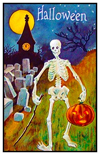 Orenco Originals Skeleton Pumpkin Moon Victorian Halloween Counted Cross Stitch Pattern