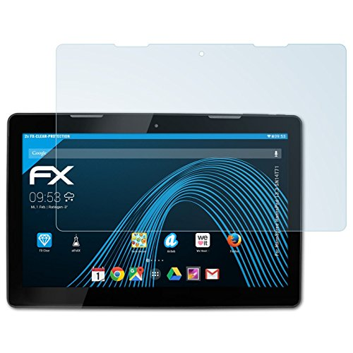 atFolix Schutzfolie kompatibel mit HannSpree HannsPad 13.3 SN14T71 Folie, ultraklare FX Bildschirmschutzfolie (2X)