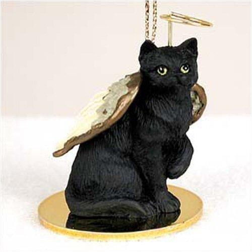Shorthair, Black Tiny Ones Cat Angel (2 in)