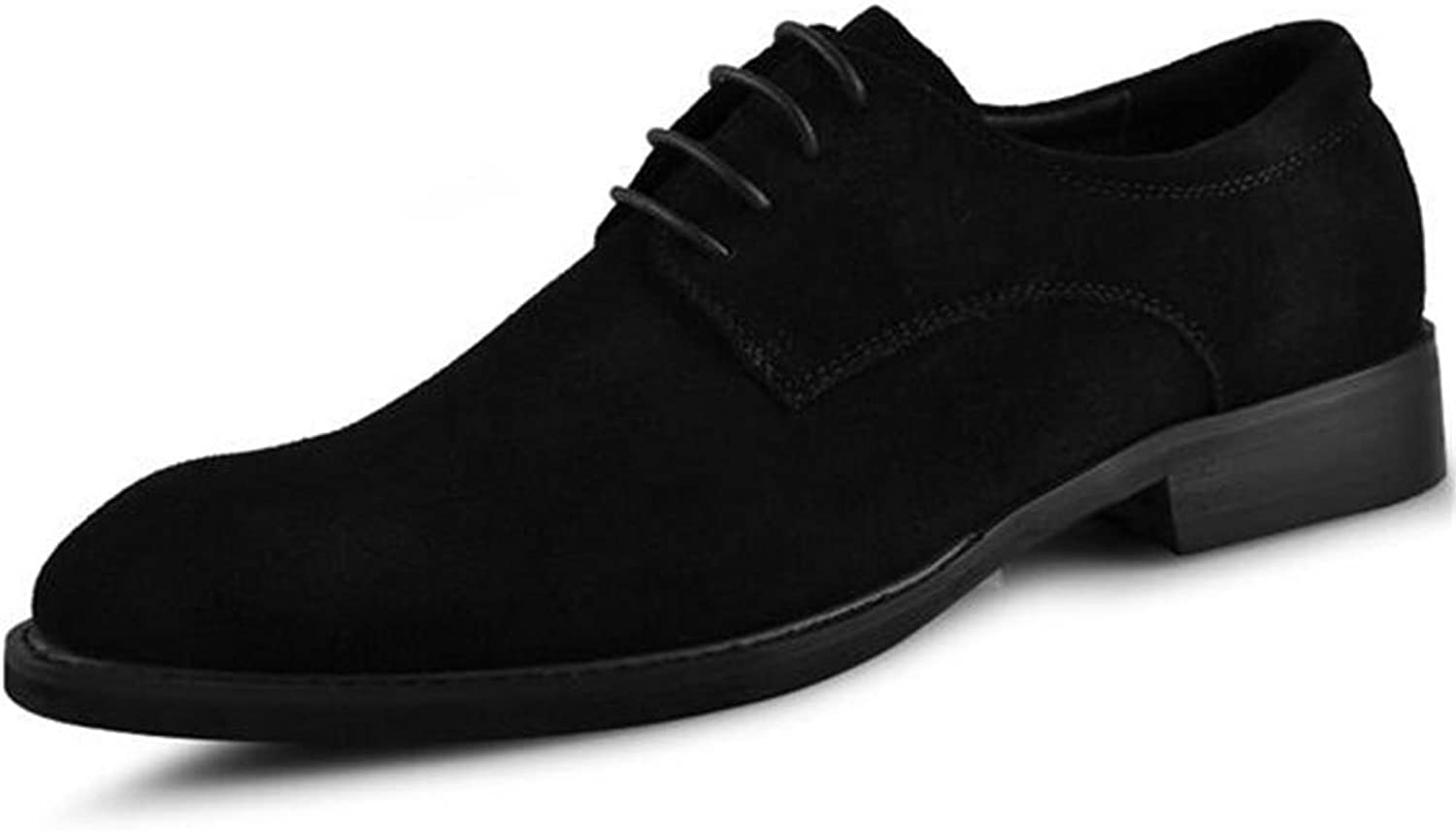 Men shoes Suede Casual Lace-Up Business Formal Dress Oxford