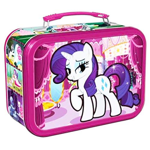 My Little Pony Lunch Box for Girls Kids - Deluxe Embossed Tin Lunchbox (My Little Pony School Supplies) (Classic)