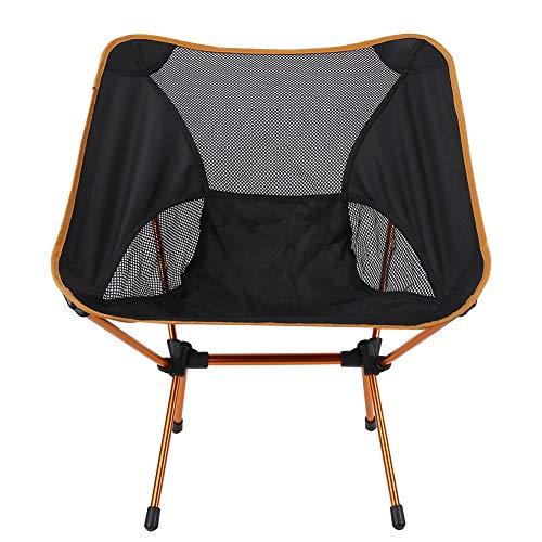 lahomie Freizeitliege Sonnenliege,Klapp Lounge Bequemer entspannender Oxford Cloth Space Chair für Picknick im Freien Orange (59 * 52 * 64 cm)