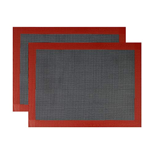 Professional Silicone Bread Baking Mat Non Stick Oven Liner Perforated Steaming Mesh For Half Sheet Size(11-4/5' x 15-3/4') (2)