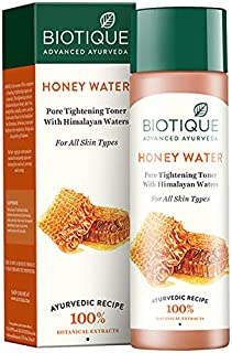 Biotique Bio Honey Water Clarifying Toner, 120ml I With Himalayan Water I All Skin Type I Blended With Pure Honey, Aloe Ve...