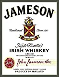 SmartCows Vintage Metal Tin Sign 12 X 8 Inches - Jameson Irish Whiskey - Retro Wall Plaque Poster - Cafe Bar Pub Beer Wall Home Decor Art