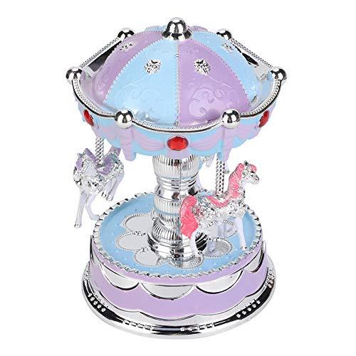 Changor Caja de música ecológica, 16 cm Hecha de ABS Material Premium CR025 Button Battery (Azul)