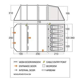 Vango Stargrove II Air 600XL Tente pour 6 personnes Vert herbes