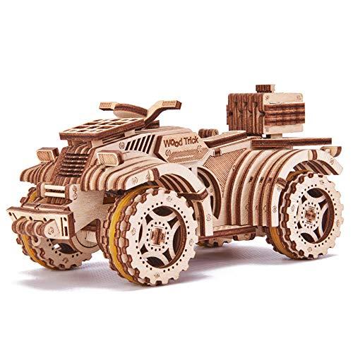 Wood Trick ATV Quad Fahrrad Spielzeug Mechanische Holz Modellbausatz für Erwachsene und Kinder zu bauen - 3D Holzpuzzle - STEM Spielzeug für Jungen und Mädchen