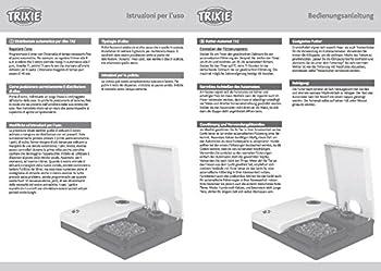 Trixie Distributeur Automatique de Nourriture Noir/Granit 27 × 7 × 24 cm pour Chien