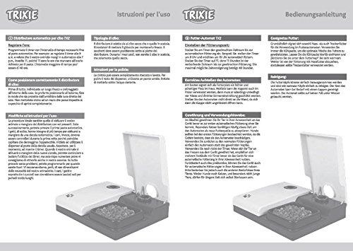 Trixie 24372 Futterautomat TX2, 2 x 300 ml, 27 x 7 x 24 cm, schwarz/granit - 5