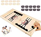 Foosball Winner Fast Sling Puck Game Paced,Slingshot Games Toy,Table Desktop Battle 2 in 1 Ice Hockey Game, Winner Board Games Toys for Parent-Child ,Interactive Chess Toy Board Table Game (Large)