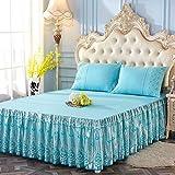 BAXQHAO Romantische Spitze Mit Rüschen Bettrock, Bettlaken, Mädchen Prinzessin Betten Koreanisch Matratzenbezug Valance-b 150x200cm(59x79inch)