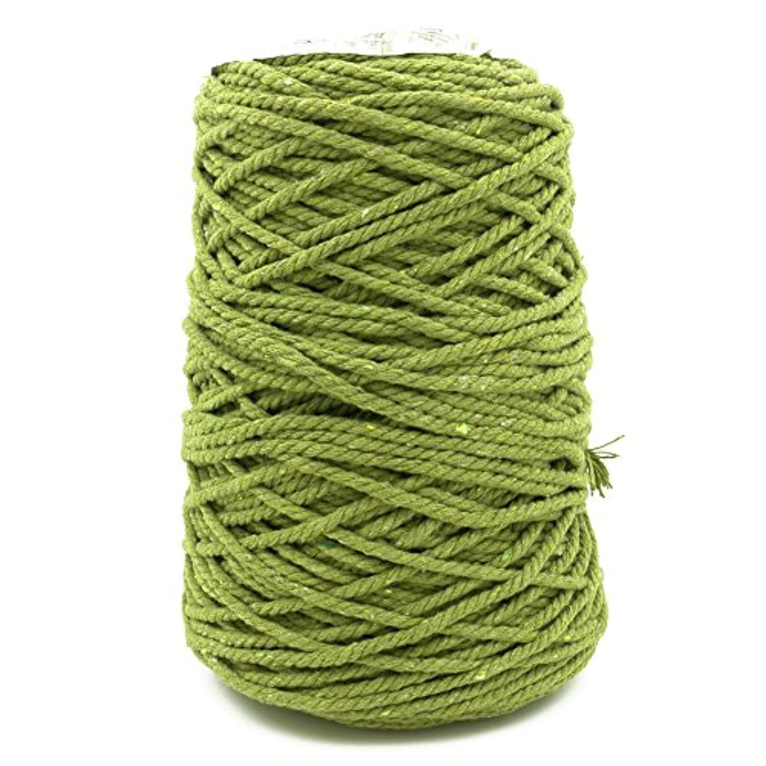 Charmkey Fashion Cotton Yarn 100% Soft Cotton 4 Medium Gauge for Crocheting and Knitting Projects DIY Crafts,17.6 Oz/500g (Grass Green)