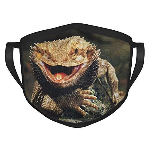 Bufanda de cuello con barba de dragón, protección solar, transpirable, resistente al viento, para el hogar al aire libre, lagartos de dragón con barba, talla única