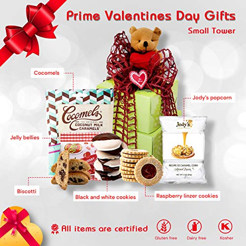 INDEPENDENCE DAY GIFT BASKET GLUTEN FREE | Beary Sweet Birthday Gifts for Mom | Get Well Soon Gift Basket for Delivery Prime with Gourmet Cookies Sweets Healthy Snacks & Chocolates | Sympathy Gifts, Corporate Gifts, Graduation Gifts, Clients, Military (Small Tower)