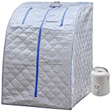 Durherm Portable Personal Therapeutic Spa Home Steam Sauna Weight Loss...