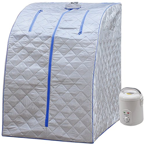 Durherm Portable Personal Therapeutic Spa Home Steam Sauna Weight Loss Slimming Detox (Blue Outline) Best Portable Steam And Infrared Saunas