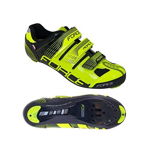 Force Rennradschuhe Race (44, fluo-schwarz)