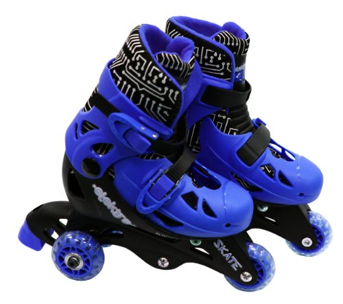 ELEKTRA Tri Line Adjustable Boots (Small, Blue)
