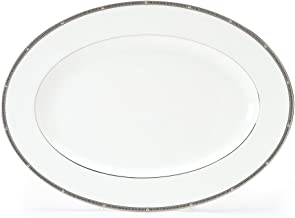 Noritake Rochelle Platinum Oval Platter, 14-inches