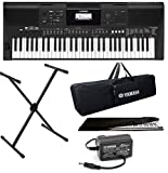 Yamaha Keyboard Mexa Yamaha PSR-E463 61 Keys Touch Sensitive Keyboard with Stand, Adapter