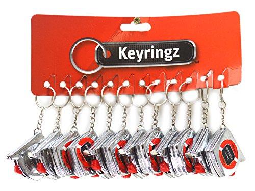 Schlüsselanhänger-Maßband, 1 m, 12 Stück