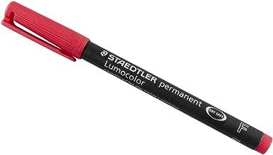 Staedtler Lumocolor Universal Pen, Fine, Felt Tip, Permanent Marker, 0.6mm, Red 318-2