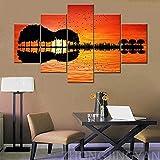 Immagine 1 grande musica wall art orange