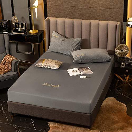 Winter Fluweel Warm Flanellen Fleece 30cm Hight Twin/Full/Queen/King Size Hoeslaken Letter Print Bed Cover