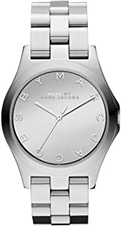 ساعة يد من مارك باي مارك جايكوب هنري للنساء بسوار ستانلس ستيل ومينا فضي - MBM3210