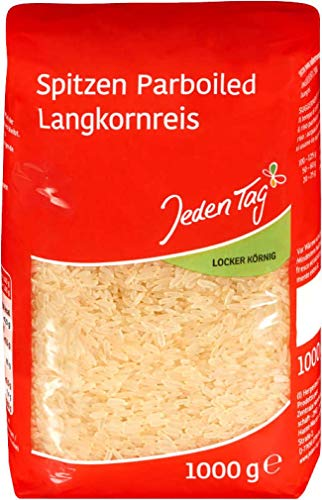 Jeden Tag Parboiled Langkorn Spitzenreis, 1000 g