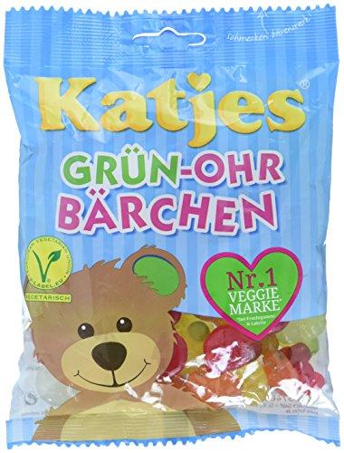 Katjes Grün-Ohr Bärchen – Leckere Schaumzucker und Fruchtgummi Süßigkeiten in Bären-Form – Lustige Nascherei für die ganze Familie (10 x 200 g)