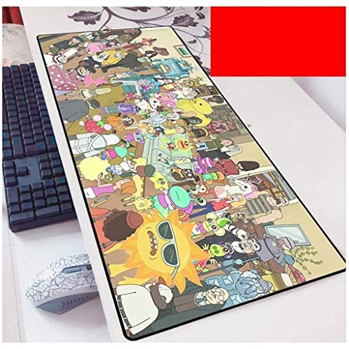 Rick and Morty Gaming Mouse Pad XXL Large Mouse Mat Keyboard Mat Extended Mousepad for Computer Desktop PC Laptop Mouse Pad (Color : A, Size : 700x300x3mm)