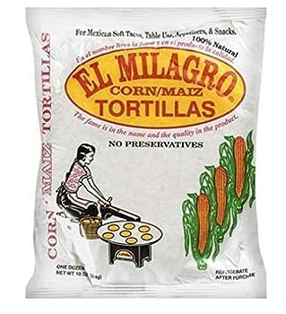 El Milagro Tortilla Corn 10 ounce  16 Pack