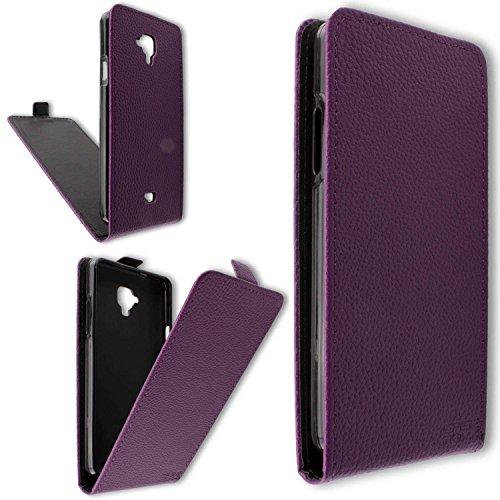 caseroxx Flip Cover für Archos 50 Titanium 4G, Tasche (Flip Cover in lila)
