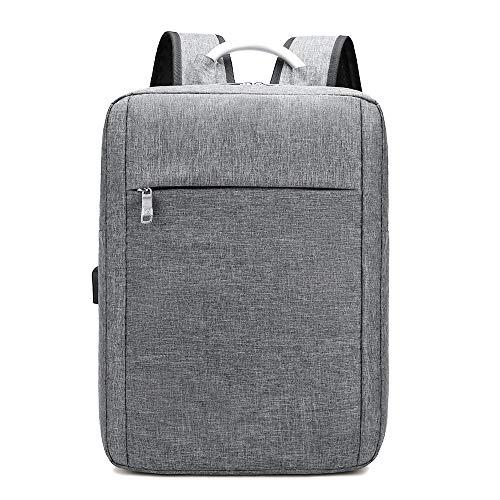 BKAUK Multifunktionale Anti-Diebstahl MMNner und Frauen USB Lade Rucksack Laptop Computer Reise Schule GeschhFt Tasche Grau