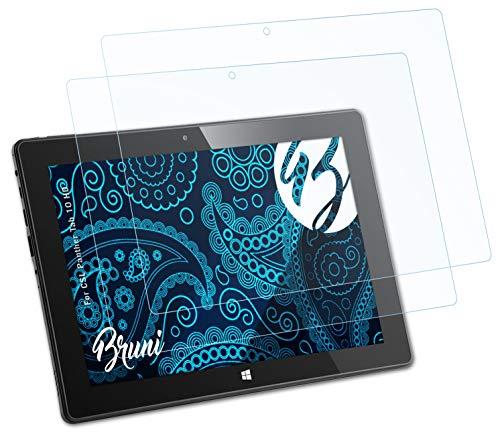 Bruni Schutzfolie kompatibel mit CSL Panther Tab 10 HD Folie, glasklare Bildschirmschutzfolie (2X)