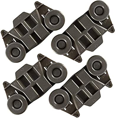4pcs Upgraded W10195416 Dishwasher Lower Wheels for kitchenaid, whirlpool, Kenmore elite, maytag Dishwasher Parts Lower Rack, W/1.59 Inch Wheels Replace AP5983730, W10195420, W10195416V, PS11722152