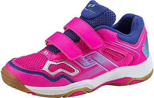 Pro Touch Unisex-Kinder Rebel II Jr. Klett Multisport Indoor Schuhe, Pink (Pink/Navy/Turquoise 000), 34 EU