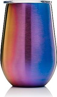 BOHORIA® Premium rostfritt stål vakuummugg | termosmugg | vinglas att gå | Cocktailglas | Dubbelväggigt och vakuumisolerat...
