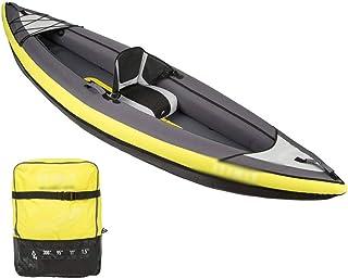 BZLLW Kayak Inflable, 1/2/3 Persona Kayak Inflable Conjunto de Aluminio con remos y Bomba de Aire de Alto Rendimiento, Asiento cómodo, Seguro y cómodo for la ergonomía