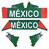 PENVEAT Rusia World Cup 2018 Fútbol Bufanda Fútbol Fan Bufanda Fútbol Selecciones Nacionales Bandera de México Bandera de México Fútbol Porristas Bufanda, Equipos de México